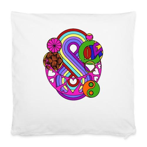 """Colour Love Mandala - Pillowcase 16"""" x 16"""" (40 x 40 cm)"""