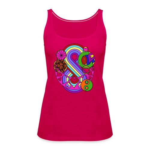 Colour Love Mandala - Women's Premium Tank Top