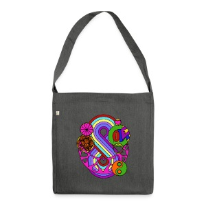Colour Love Mandala - Shoulder Bag made from recycled material