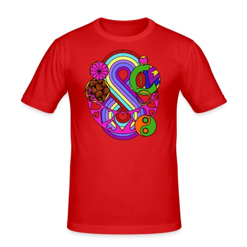 Colour Love Mandala - Men's Slim Fit T-Shirt