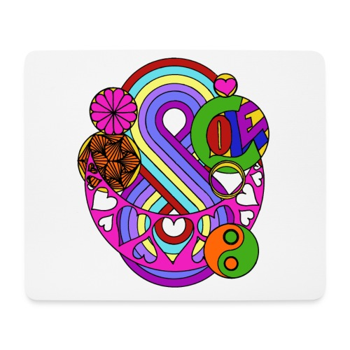 Colour Love Mandala - Mouse Pad (horizontal)
