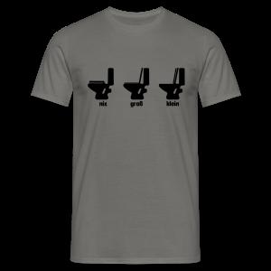 Toilettenregeln Shirt - Männer T-Shirt