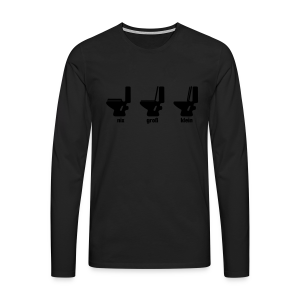 Toilettenregeln Shirt - Männer Premium Langarmshirt