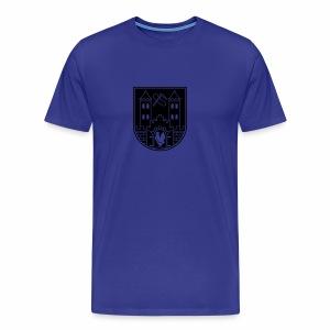 Suhl Wappen (weiß) - Men's Premium T-Shirt