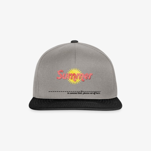 in summertime cut of here - Snapback Cap