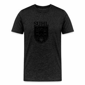 Suhl Wappen mit Schrift (weiß) - Männer Premium T-Shirt
