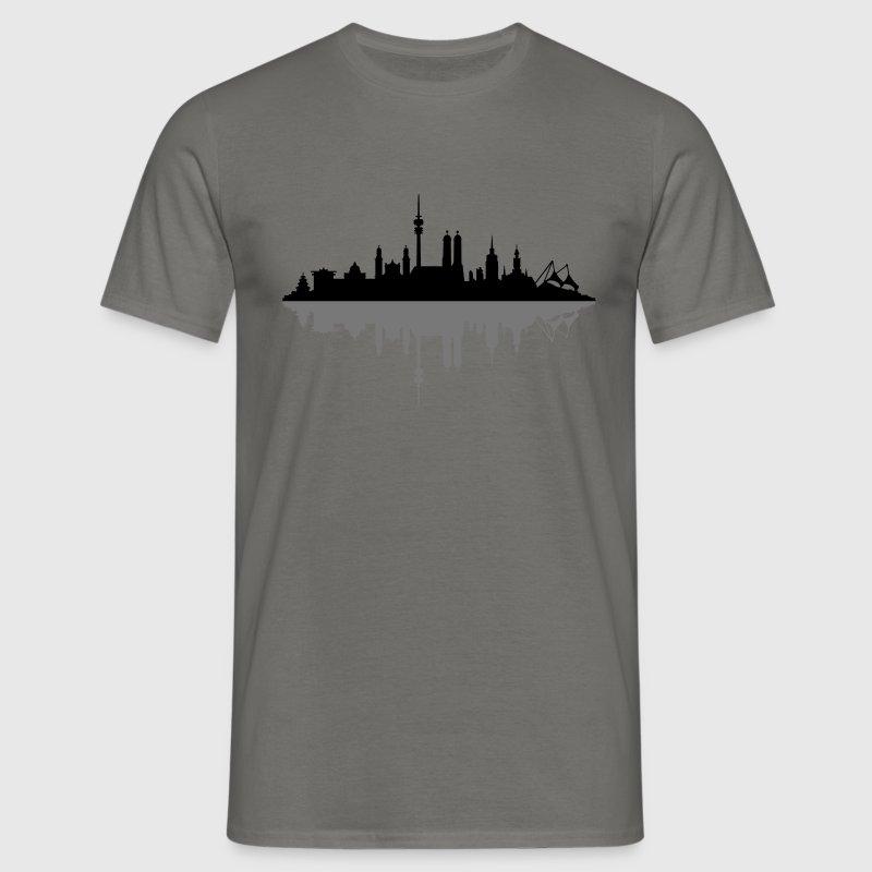 Skyline München Schatten T-Shirts - Männer T-Shirt
