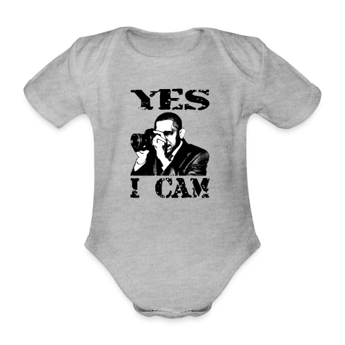 Yes I Cam, like Obama - Baby bio-rompertje met korte mouwen