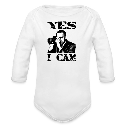 Yes I Cam, like Obama - Baby bio-rompertje met lange mouwen