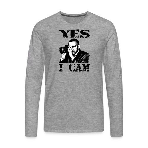 Yes I Cam, like Obama - Mannen Premium shirt met lange mouwen