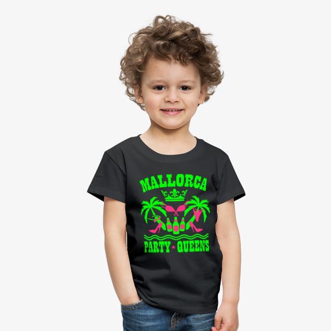 Mallorca Party Queens Malle Crew Palmen Bier T Shirt Kinder Premium T Shirt