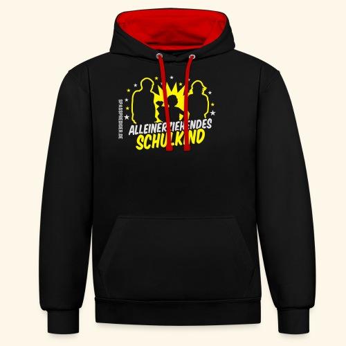 Alleinerziehendes Schulkind, Mädchen T-Shirts - Kontrast-Hoodie