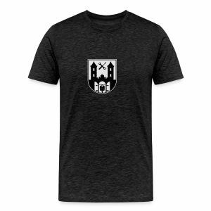 Simson Schwalbe - Suhl Wappen (2c + Dein Text) - Men's Premium T-Shirt