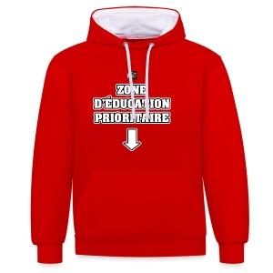 ZONE D'ÉDUCATION PRIORITAIRE - JEUX DE MOTS - FRANCOIS VILLE - Sweat-shirt contraste