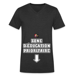 ZONE D'ÉDUCATION PRIORITAIRE - JEUX DE MOTS - FRANCOIS VILLE - T-shirt bio col V Stanley & Stella Homme