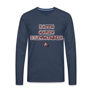 DONNE COURS PARTICULIERS - JEUX DE MOTS - FRANCOIS VILLE - T-shirt manches longues Premium Homme