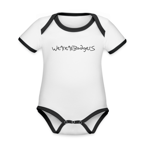 We Are All Badgers - Organic Baby Contrasting Bodysuit