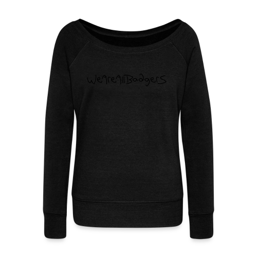 We Are All Badgers - Women's Boat Neck Long Sleeve Top