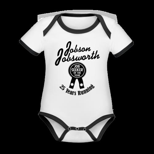 Jobson Jobsworth - Jobseeker of the Year - 25 Years Running - Organic Baby Contrasting Bodysuit