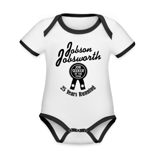 Jobson Jobsworth - Jobseeker of the Year - 25 Years Running - Organic Baby Contrasting Bodysuit
