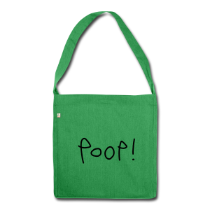 Poop! - Shoulder Bag made from recycled material