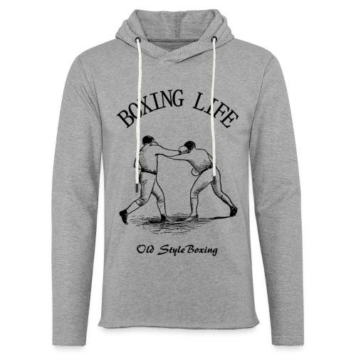 Old Style Boxing Life - Felpa con cappuccio leggera unisex