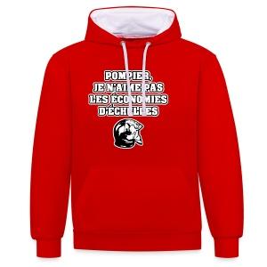 POMPIER, JE N'AIME PAS LES ÉCONOMIES D'ÉCHELLES - JEUX DE MOTS - FRANCOIS VILLE - Sweat-shirt contraste