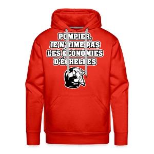 POMPIER, JE N'AIME PAS LES ÉCONOMIES D'ÉCHELLES - JEUX DE MOTS - FRANCOIS VILLE - Sweat-shirt à capuche Premium pour hommes