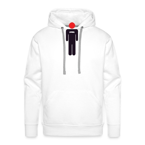 #PRL - Man with the red face (small logo) - Men's Premium Hoodie