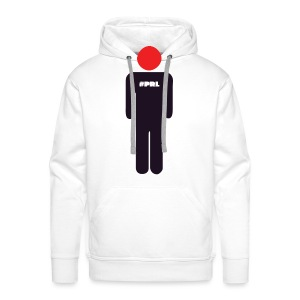 #PRL - Man with the red face (large logo) - Men's Premium Hoodie