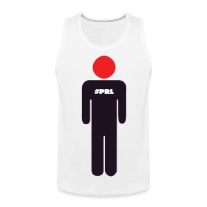 #PRL - Man with the red face (large logo) - Men's Premium Tank Top