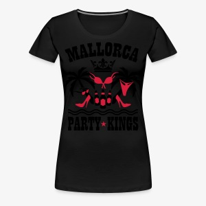 Mallorca Party Kings Malle Palmen Strand Bier T-Shirt - Frauen Premium T-Shirt