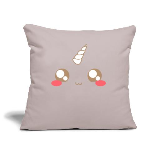 Apron: Kawaii unicorn - Sofa pillowcase 17,3'' x 17,3'' (45 x 45 cm)