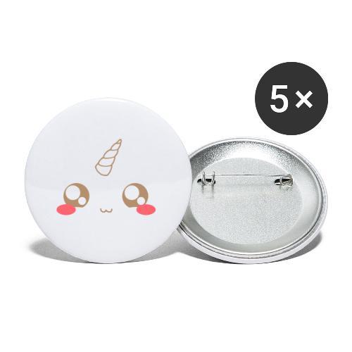 Apron: Kawaii unicorn - Buttons large 2.2''/56 mm(5-pack)