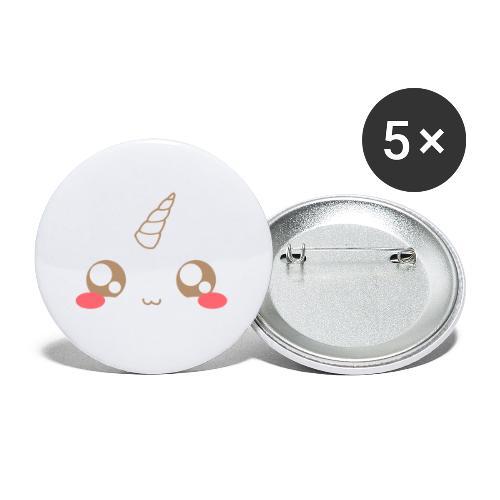 Apron: Kawaii unicorn - Buttons small 1''/25 mm (5-pack)