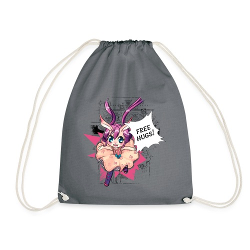 Women's Tank Top: Free Hugs (light clothing) - Drawstring Bag