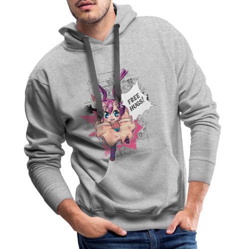 Women's Tank Top: Free Hugs (light clothing) - Men's Premium Hoodie