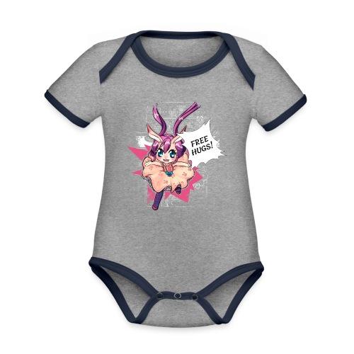 Women's Tank top: Free Hugs (dark clothing) - Organic Baby Contrasting Bodysuit