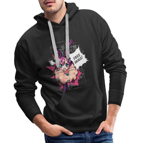 Women's Tank top: Free Hugs (dark clothing) - Men's Premium Hoodie