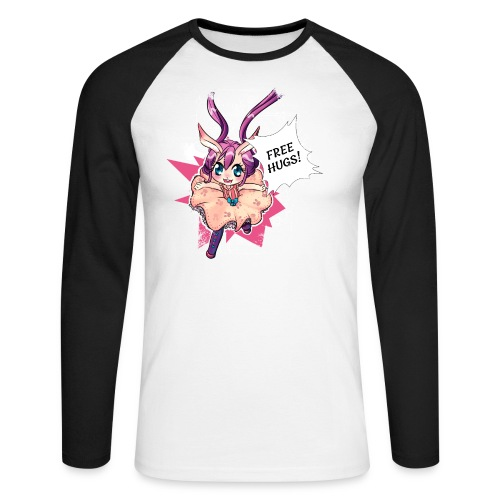 Women's Tank top: Free Hugs (dark clothing) - Men's Long Sleeve Baseball T-Shirt