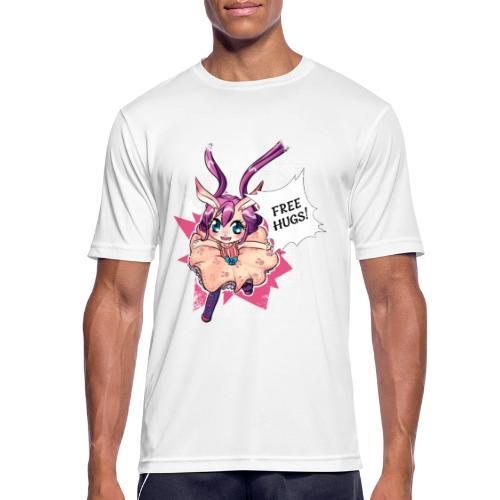 Women's Tank top: Free Hugs (dark clothing) - Men's Breathable T-Shirt
