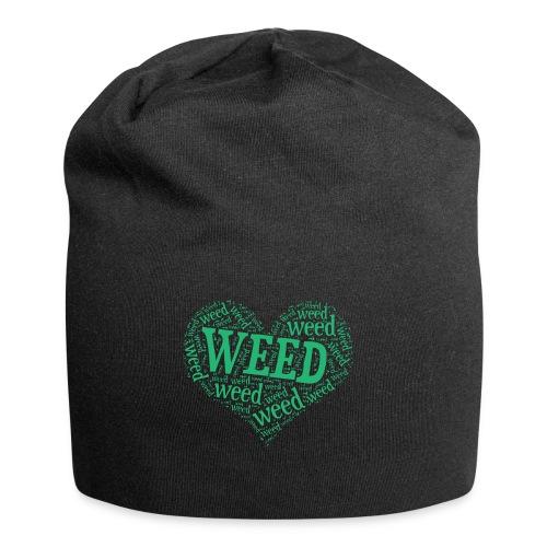I Love Weed Heart Wordcloud Mug - Jersey Beanie