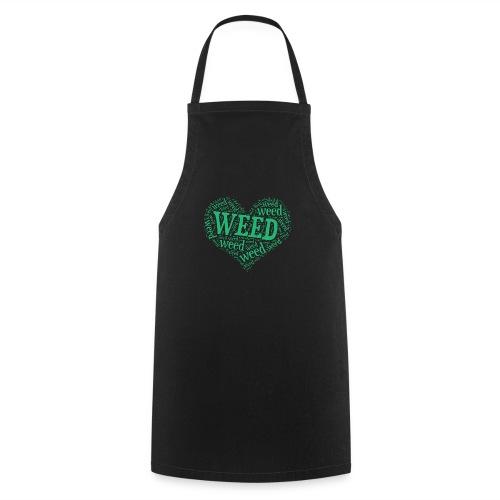I Love Weed Heart Wordcloud Mug - Cooking Apron