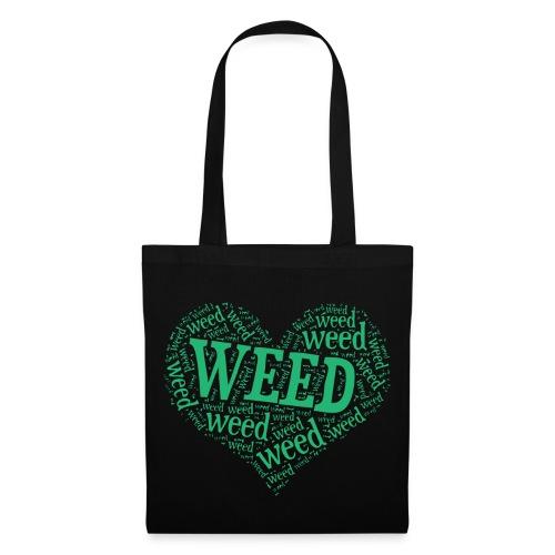 I Love Weed Heart Wordcloud Mug - Tote Bag