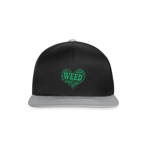 I Love Weed Heart Wordcloud Mug - Snapback Cap