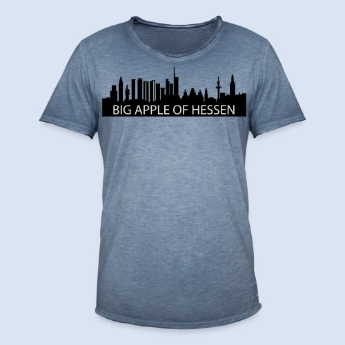 BEMBELTOWN DESIGN - BIG APPLE FRANAKFURT - Männer Vintage T-Shirt