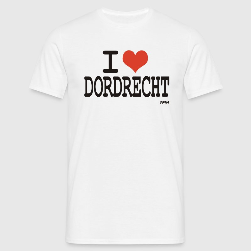 Wit i love dordrecht by wam T-shirts - Mannen T-shirt