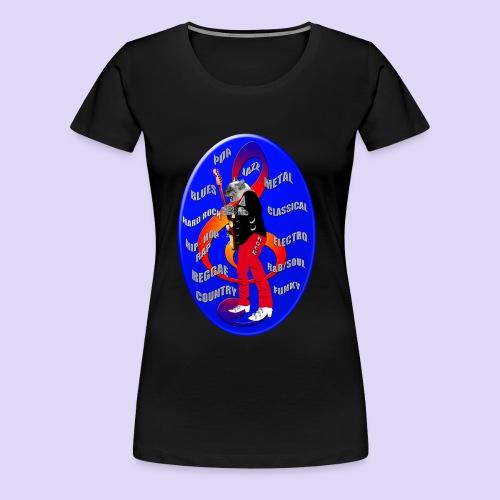 Chat guitariste - T-shirt Premium Femme