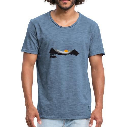 Camping in den Bergen - Männer Vintage T-Shirt