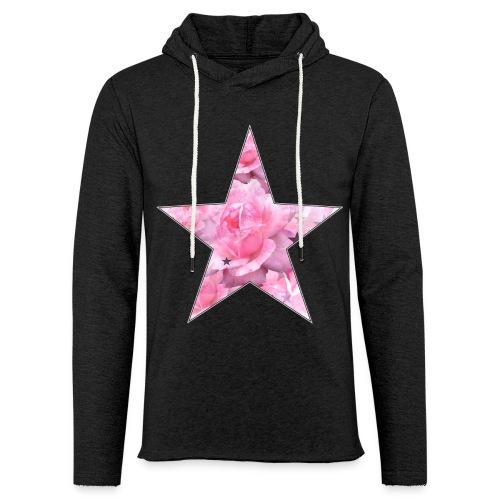Stern und Rosen - Leichtes Kapuzensweatshirt Unisex
